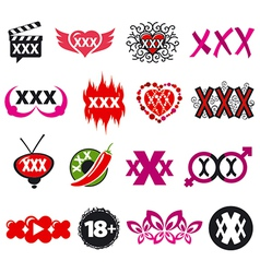 Biggest collection of logos xxx vector