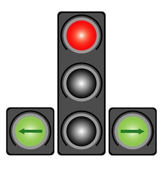 Traffic light for cars vector image
