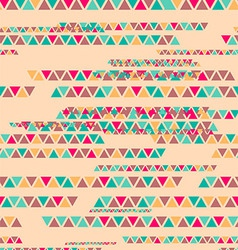 Abstract geometric triangle seamless pattern vector