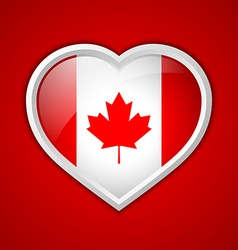 Canadian heart icon vector