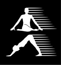 Meditation and yoga energy vector image
