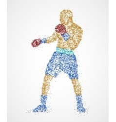 Boxer abstract athlete vector