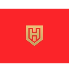 Abstract letter h shield logo design template vector