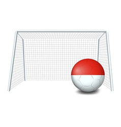 A soccer ball with the flag of monaco vector