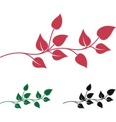 abstract leaves vector image vector image