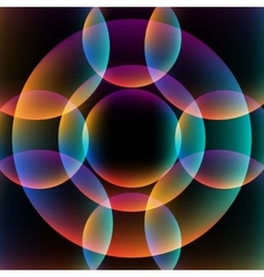 Abstract vibrant background with circles vector image vector image