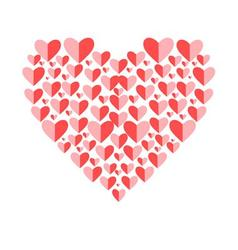 Beautiful with red heart for l vector