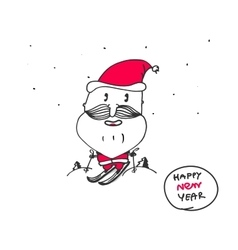 card for the new year santa claus happy vector image vector image