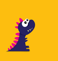 cartoon funny dragon cartoon dinosaur vector image vector image