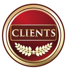 Clients red label vector