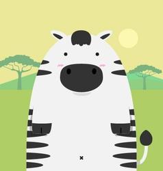 Cute fat big zebra horse vector