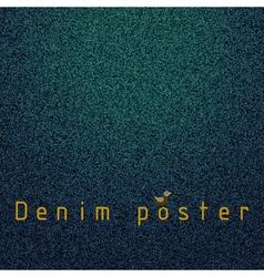 Denim poster vector image