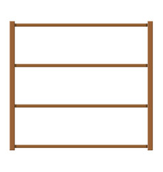 Empty wooden storage shelves vector