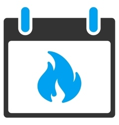 Flame calendar day toolbar icon vector
