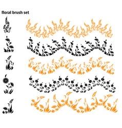 Floral brush set vector