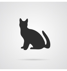Gray silhouette of cat vector