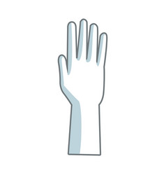 Hand people part fingers open up vector