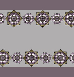 Lilac pattern with mandalas vector image
