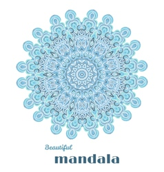 Mandala abstract lace design vector