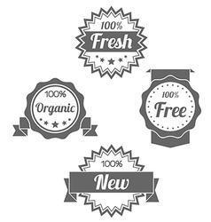 Modern flat shop badges tags stamps vector image