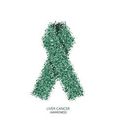 modern liver cancer awareness circles vector image vector image