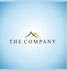 Mountain logo ideas design vector