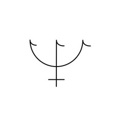 neptune line icon vector image