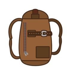 Packback travel bag tourist vector