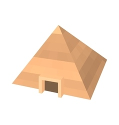Pyramid of Egypt icon cartoon style vector image vector image