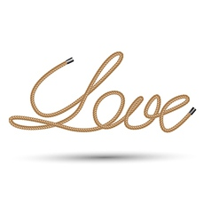 rope love vector image