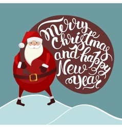 Santa Claus lettering vector image