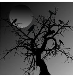 Scary tree vector