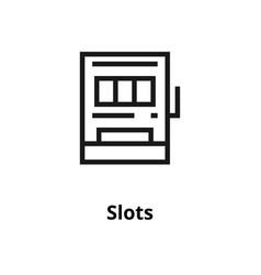 slots line icon vector image vector image