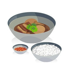 stewed egg vector image
