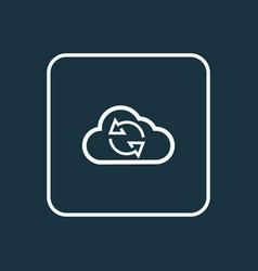 Synchronize outline symbol premium quality vector