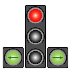 Traffic light for cars vector