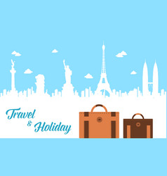 Travel and holiday design background vector