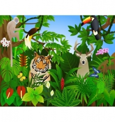 tropical animal in the jungle vector image vector image