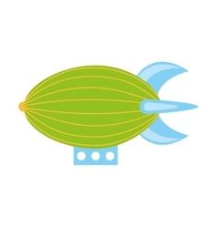 Zeppelin toy isolated icon vector