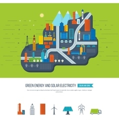 Green energy ecology eco urban landscape vector