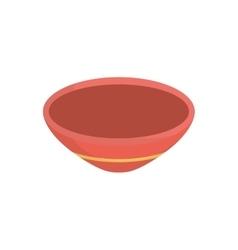 Isolated deep dish vector
