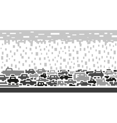 Traffic on street vector