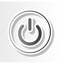 on off switch sign  new year blackish icon vector image