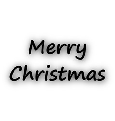 merry christmas on white vector image