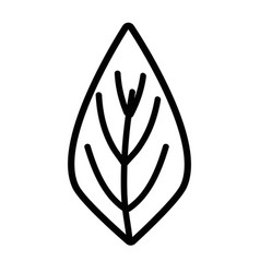 Line natural leaf to ecology preservation icon vector