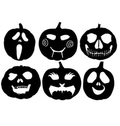 Halloween pumpkin silhouette vector