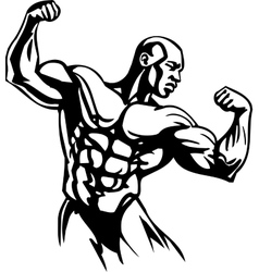 Bodybuilding and Powerlifting - vector image