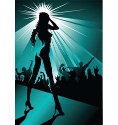 Night striptease vector