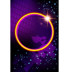 Abstract virtual space with screen background vector