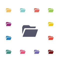 Folder flat icons set vector